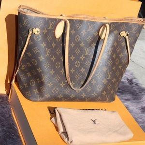 ✨Louis Vuitton Neverfull MM monogram tote bag